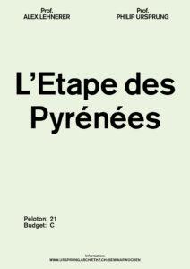Seminar week HS 19: L'Etape des Pyrénées